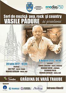 Seri de pop, rock şi country cu Vasile Pădure și invitații